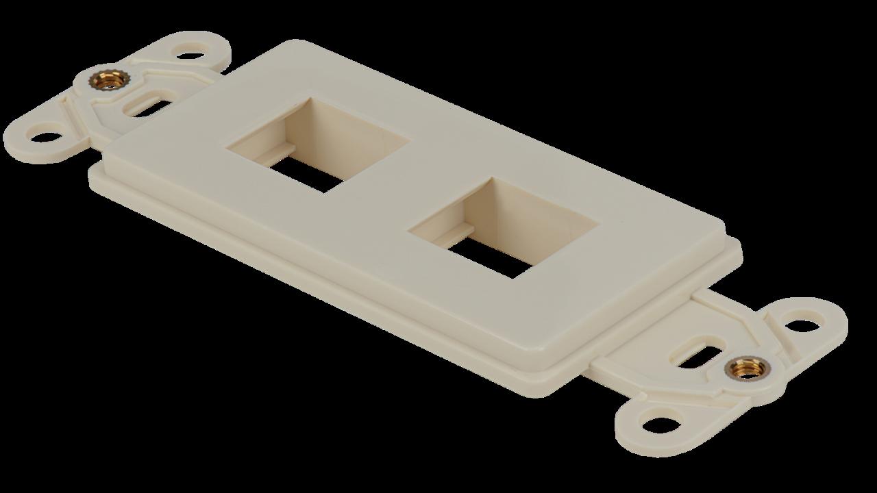 WJ-DEC-AL - Keystone Decorator Style 2-port faceplate insert