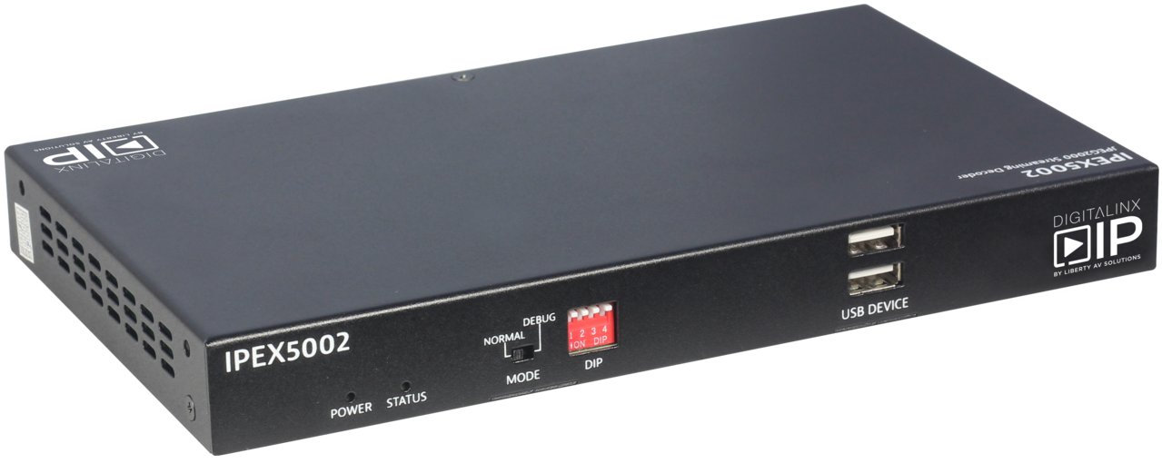 IPEX5002 - HDMI Over IP Decoder - Scalable 4K Solution over 1Gb Network w/ full Matrix & Video wall Capability