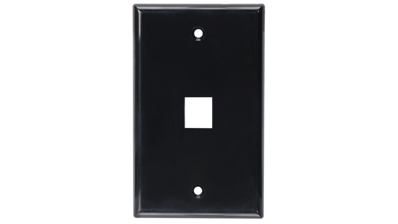 WP-N1-IV - Keystone single gang 1-port smooth faceplate