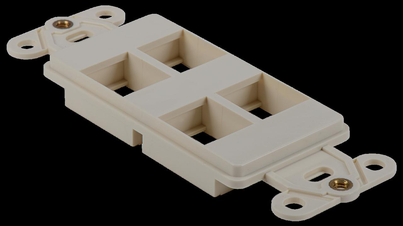 WJ-DEC4-AL - Keystone Decorator Style 4-port faceplate insert