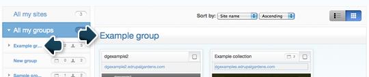 Group name links
