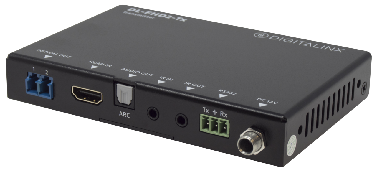 DL-FHD2 - Uncompressed 18G HDMI 2.0 over fiber extender with IR, RS232, ARC extension 4k60 4:4:4, HDR, HDCP2.2