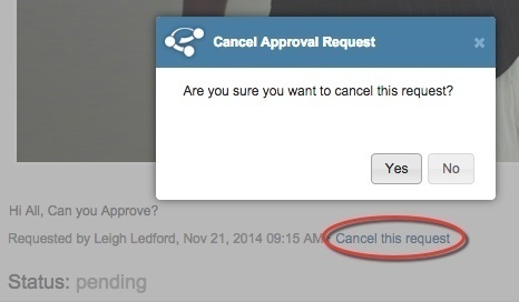 Cancel a request