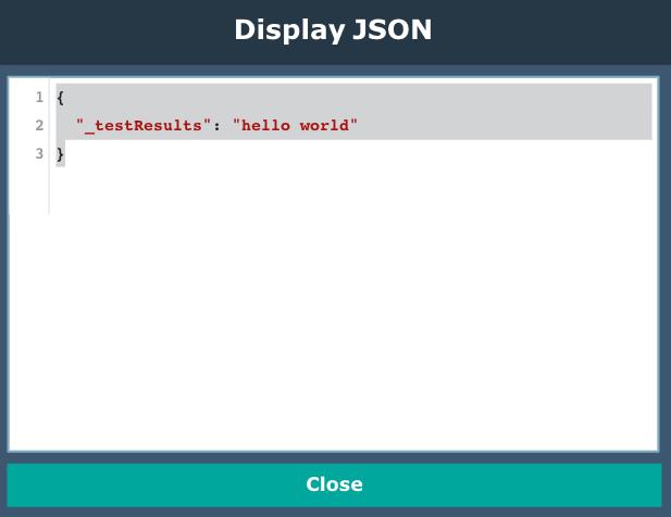Javascript node testing results
