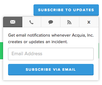 Subscribe to Status notifications
