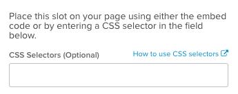 Adding a CSS selector