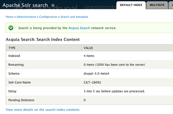 Search index reports