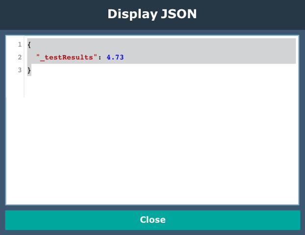 Javascript node testing, numeric results
