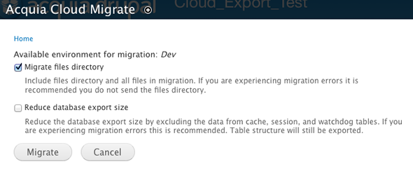 Migrate dialog image