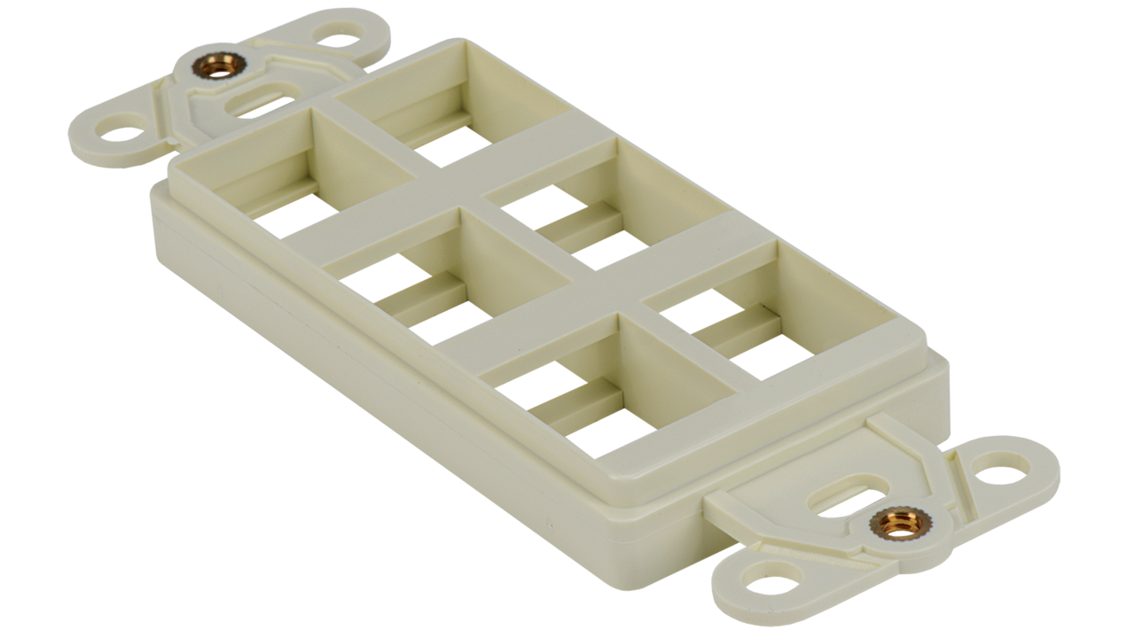 WJ-DEC6-AL - Keystone Decorator Style 6-port faceplate insert