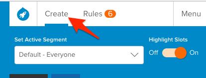 Create tab