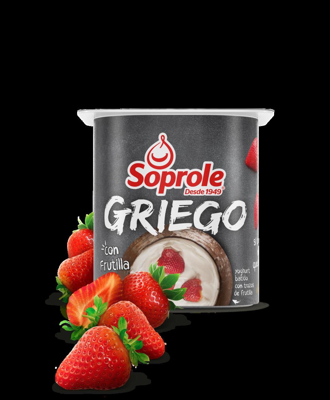 Soprole Yoghurt griego trozos frutilla