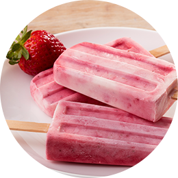 Strawberry and Cream Pops