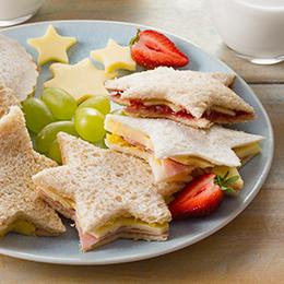 Kids Favourite Cheese Shape Sandwiches