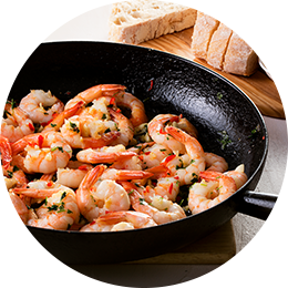Buttery Garlic Prawns