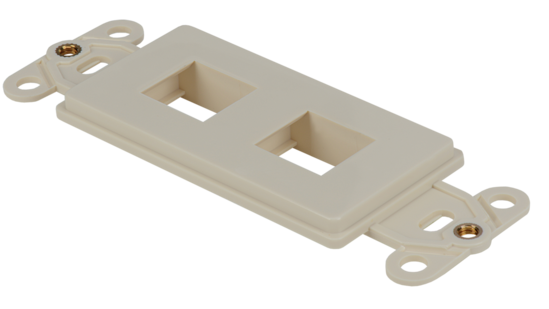 Keystone Decorator Style 2-port faceplate insert