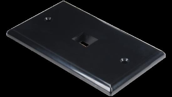 Keystone single gang 1-port smooth faceplate