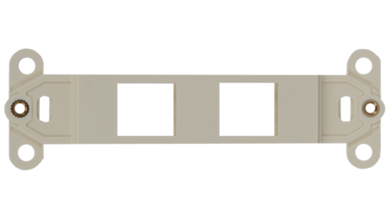 Keystone Decorator Style 2-port faceplate insert