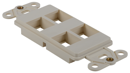 Keystone Decorator Style 4-port faceplate insert