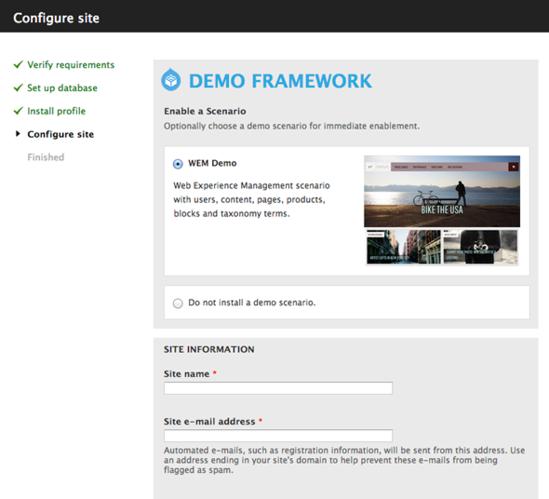Configure the Demo Framework