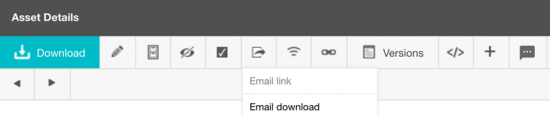 Sharing email download bar