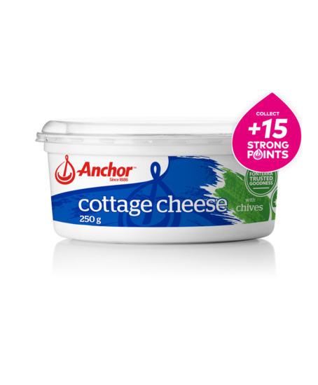 Anchor Cottage Cheese with Chives 250g tub