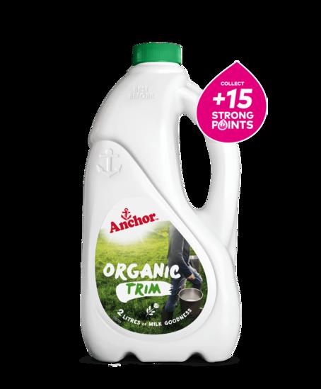Anchor Organic Trim Milk Bottle 2L bottle