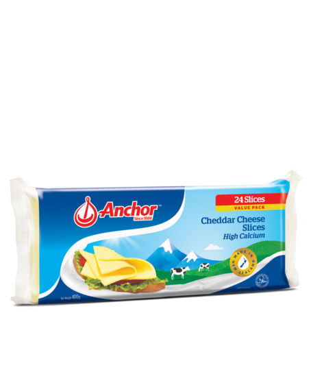 Anchor cheddar cheese slices 400g